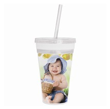 Photo Tumbler with Straw