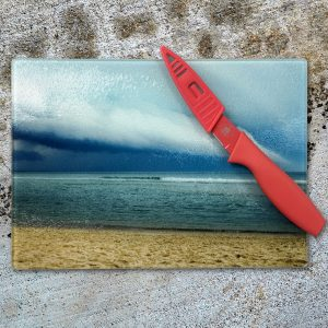 Our tempered glass cutting boards are customizable with any image.