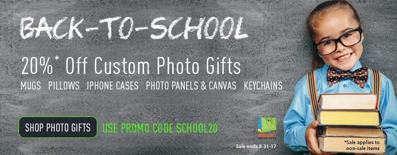 20% Off Back to School sale on all non-sale items. Use Code SCHOOL20 - Sale ends 8-31-17
