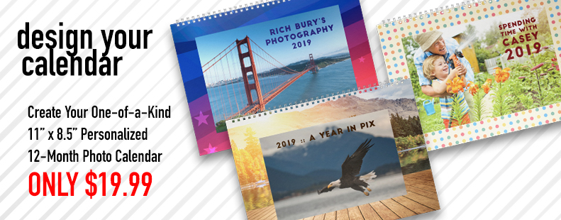 For a limited time, design your 12-month photo calendar for only 16.99. Sale ends July 27, 2018.