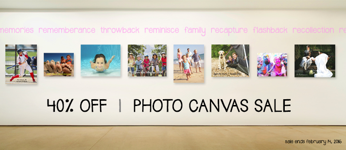40 Percent Off Photo Canvas